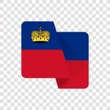 Liechtenstein - National Flag stock illustration