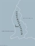 Liechtenstein political map Royalty Free Stock Photography