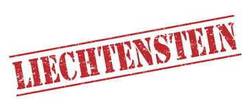 Liechtenstein  stamp Royalty Free Stock Photo