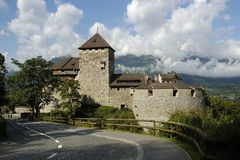 Liechtenstein-Schloss Stockfotografie