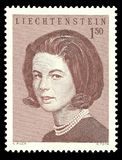 Liechtenstein, Countess Marie Aglae Kinsky. Liechtenstein - stamp printed in1967, Royal families, Countess Marie Aglae Kinsky stock images