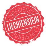 Liechtenstein stamp rubber grunge Stock Images
