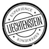 Liechtenstein stamp rubber grunge Royalty Free Stock Photos