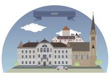 liechtenstein vaduz Royaltyfri Bild