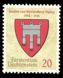 Liechtenstein, znaczek fotografia stock