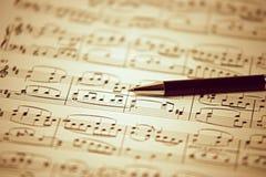lied door Beethoven - Ode aan Vreugde wordt geschreven die Stock Fotografie