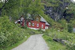 Lied og Fjordane, Noorwegen Stock Afbeeldingen
