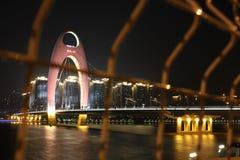 LieDe Bridge. Cross Pearl River in GuangZhou Royalty Free Stock Photo