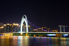 Liede bridge in Guangzhou. Stock Image