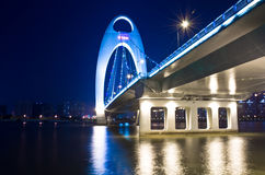 Liede bridge in Guangzhou. Royalty Free Stock Image