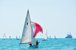 Lieder in regatta Royalty Free Stock Image