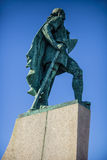 Lief Eriksson statue Iceland Stock Photography