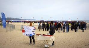 Liefdadigheid voor de campagne van Afrika op het strand Bulgarije van Varna Royalty-vrije Stock Afbeelding