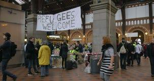 Liefdadigheids Verzamelpunt die in Kopenhagen werken stock footage