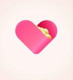 Liefdadigheidsschenking Concept Financiële die Gift met Liefde wordt gemaakt Royalty-vrije Stock Foto's
