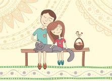 In liefde Stock Afbeeldingen