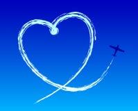 Liefde aan de hemel Stock Foto's
