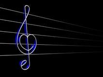 Liefde aan muziek stock illustratie