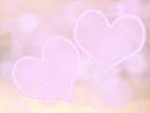 Liefde abstract achtergrondhart zacht vaag roze Stock Afbeelding