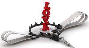 Liefde als gevaarlijk lokmiddel royalty-vrije illustratie