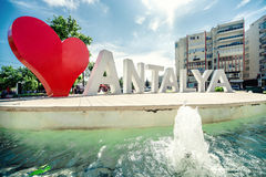 Liefde Antalya royalty-vrije stock fotografie