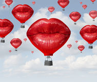 Liefde baloons Stock Foto