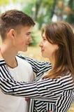 Liefde bij park Stock Afbeelding