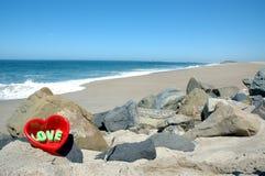 Liefde bij strand 2 royalty-vrije stock afbeelding