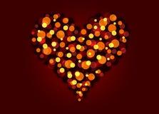 Liefde bokeh vector illustratie