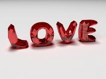 Liefde brilliants Stock Foto's