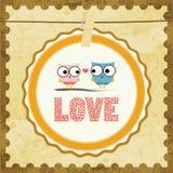 Liefde Card14 Royalty-vrije Stock Afbeeldingen
