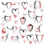 Liefde. cijfers aangaande familie Royalty-vrije Stock Foto's