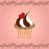 Liefde cupcake Royalty-vrije Stock Afbeeldingen