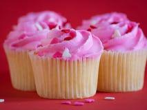 Liefde Cupcakes Stock Afbeeldingen