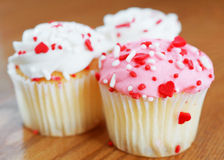 Liefde cupcakes Stock Fotografie