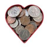 Liefde dat Geld stock afbeelding