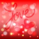 Liefde De dag of het huwelijkskaartmalplaatje van Valentine Royalty-vrije Stock Fotografie