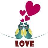 Liefde in de dag van de valentijnskaart Vector Illustratie