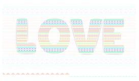 Liefde De gelukkige kaart van de valentijnskaartendag Stock Afbeeldingen