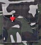 Liefde in de militairen. Royalty-vrije Stock Afbeelding