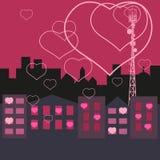 Liefde in de Stad Stock Afbeeldingen