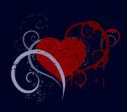 Liefde die door verf wordt getrokken Vector Illustratie