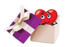Liefde in doos Stock Foto's