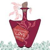 Liefde Drink me vector illustratie