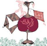 Liefde Drink me royalty-vrije illustratie