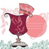 Liefde Drink me stock illustratie