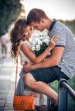 Liefde en affectie tussen een paar Royalty-vrije Stock Afbeeldingen