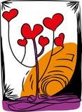 Liefde en boom van liefde Stock Fotografie