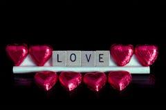 Liefde en Chocolade Stock Foto