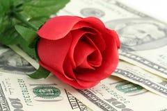 Liefde en geld Stock Foto's